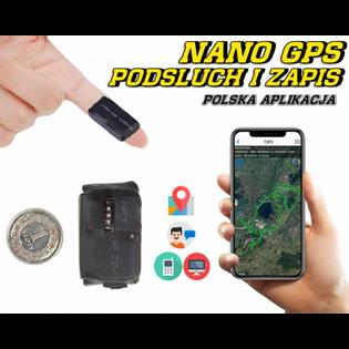 Lokalizator NANO N17 GPS Tracker PL z Podsłuchem na żywo (zapis nagrań)