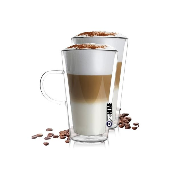 Szklanki Termiczne do Kawy Latte Herbaty z Uchem 320ml 2szt zdjęcie 1
