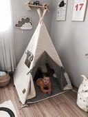 Namiot tipi dla dziecka Naturalna Szarość - zestaw mini zdjęcie 6