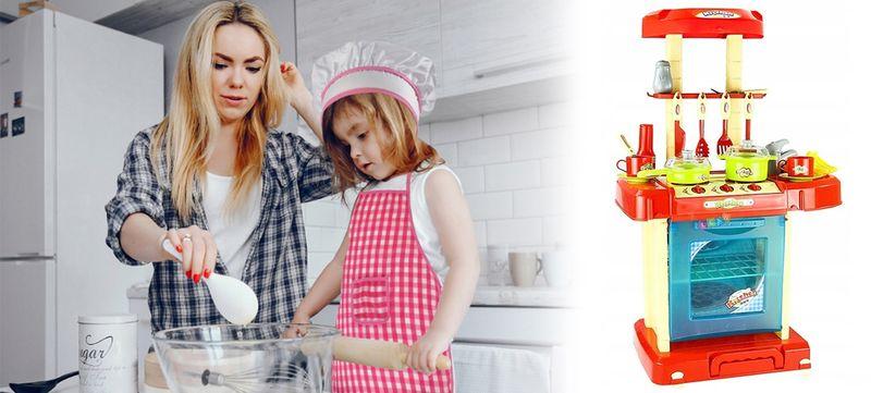 Kuchnia dla dzieci w walizce Piekarnik Zlew Akcesoria kuchenne U07 zdjęcie 2