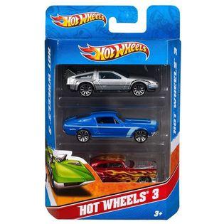 Hot Wheels - Trzypak 3-pak autek samochodzików MIX K5904