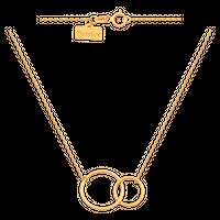 naszyjnik złoty Celebrytka 2 kółeczka