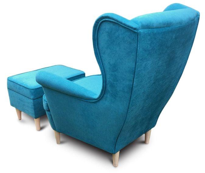 Fotel Uszak CHRIS  z podnóżkiem otwieranym zdjęcie 5