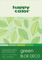 Blok techniczny kolorowy Deco zielony A4 Happy Color