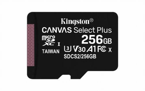 Kingston Karta pamięci Kingston Canvas Select Plus SDCS2/256GBSP (256GB; Class 10, Class A1; Karta pamięci) (foster)