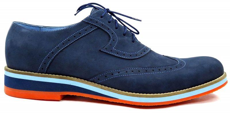 c38bf697035eb Granatowe męskie buty casualowe z pomarańczową podeszwą T1 Rozmiar Obuwia -  39 zdjęcie 1