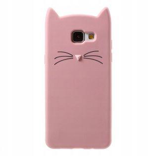 Etui do Samsung A50 Kot 3D Uszy Wąsy