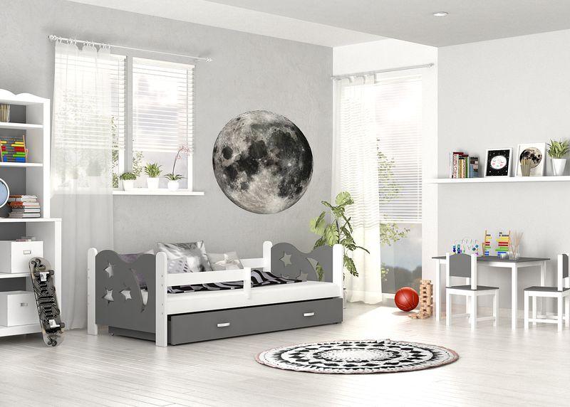 Łóżko dla dzieci MIKOŁAJ COLOR 160x80  szuflada + materac zdjęcie 1