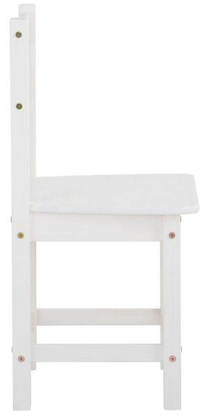 Ponadczasowe, sosnowe krzesła w kolorze białym - 6 sztuk zdjęcie 3