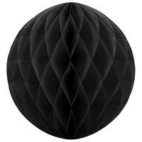 kula bibułowa L duża 30 cm CZARNA dekoracja
