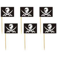 Dekoracja ozdoba piker PIRACKA FLAGA do babeczek