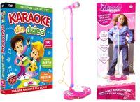 ZESTAW Karaoke dla Dzieci 100 pios. DVD + MIKROFON