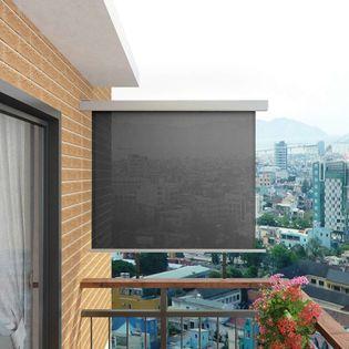 VidaXL Wielofunkcyjna markiza boczna, balkonowa, 150 x 200 cm, szara