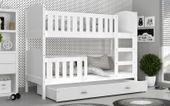 Łóżko piętrowe TAMI COLOR 190x80 szuflada + materace zdjęcie 5