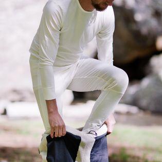 Bielizna męska MERINO WOOL termiczna ciepła komplet kremowy XXL