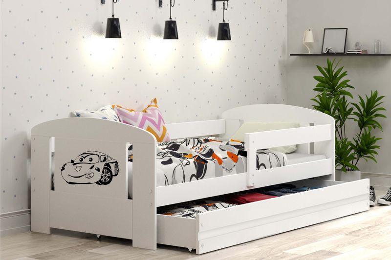 Łóżko pojedyncze FILIP 160x80 dla dzieci + SZUFLADA + BARIERKA zdjęcie 4