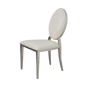 Krzesło Ludwik glamour White Croco krzesło tapicerowane ekoskóra