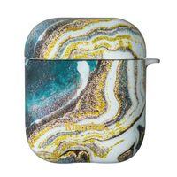 Kingxbar AirPods Case silikonowe etui pudełeczko na słuchawki AirPods Gold Marble