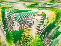 Obrus Cerata Tekstylna Tropikalne Liście Zielona 140cm x 10cm CA504