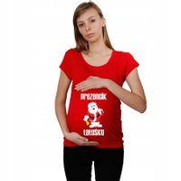 Koszulka ciążowa Prezencik Tatuśku Św. Mikołaj