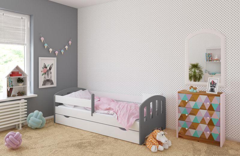 Łóżko FIFI 140x80 + szuflada + barierka zabezpieczająca + MATERAC zdjęcie 4