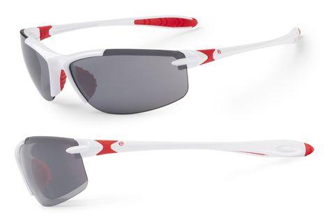 Okulary ACCENT Tempest biało-czerwone soczewki PC:szare + przezroczyste