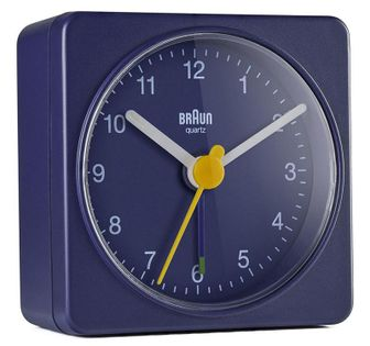 Braun BC02BL V2 Budzik analogowy, zasilany bateryjnie, alarm, drzemka, podświetlenie