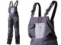 Spodnie robocze z szelkami 10 kieszeni, wstawki Hogert HT5K270 (rozmiar LD)