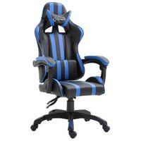 Fotel dla gracza niebieski sztuczna skóra VidaXL