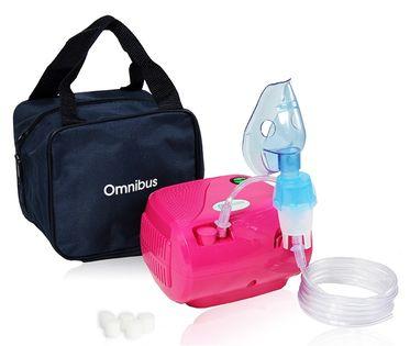 Inhalator kompresorowy nebulizator OMNIBUS BR-CN116 Różowy