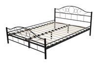 Łóżko metalowe funkcjonalne solidne 140x200 czarne