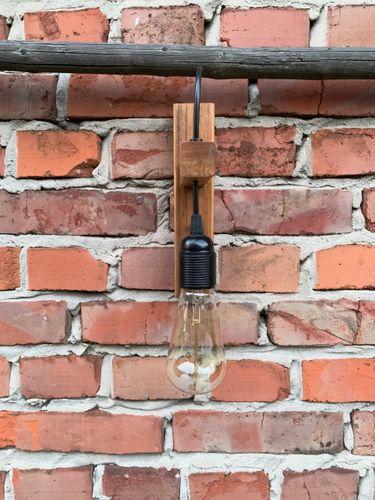 Kinkiet drewniany lampa loft scienna industrialna Styl Skandynawski na Arena.pl