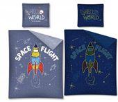 Pościel 160x200 Świecąca w Ciemności Dziecięca Kosmos Rakieta Cosmo
