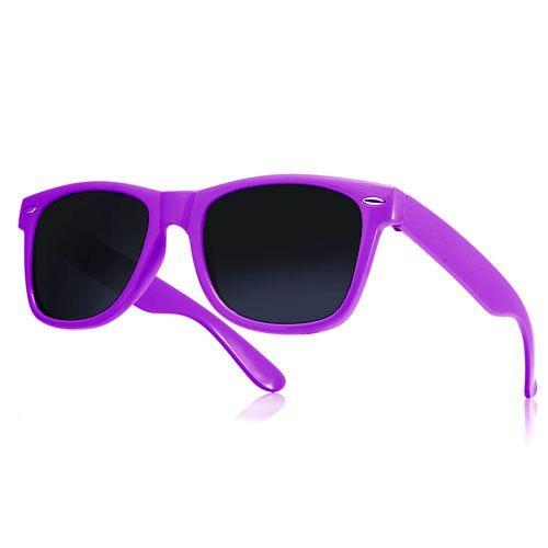 Okulary przeciwsłoneczne WAYFARER nerdy kujonki # FIOLETOWE zdjęcie 1