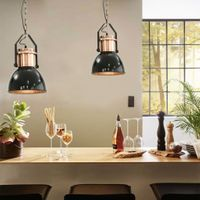 Lampy Sufitowe, 2 Szt., Czarne, Okrągłe, E27