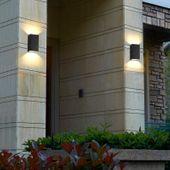 LAMPA OGRODOWA ŚCIENNA KINKIET IP54 220V CZARNA zdjęcie 2