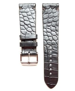 Pasek do zegarka 22mm skóra srebrno-popielaty - polskie - Lamato