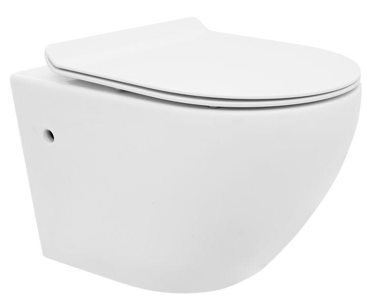 Misa WC Podwieszana + Deska CARLO MINI RIMLESS DUROPLAST - REA zdjęcie 1