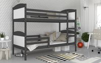 Łóżko piętrowe MATEUSZ COLOR bez szuflady  200x90 + materace