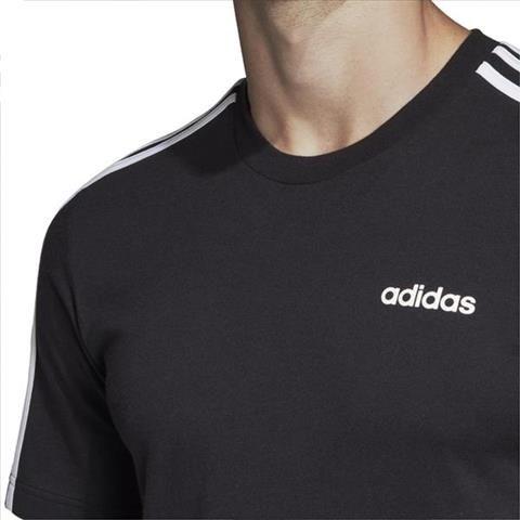 Koszulka męska adidas Essentials 3 Stripes Tee czarna DQ3113 XL zdjęcie 4