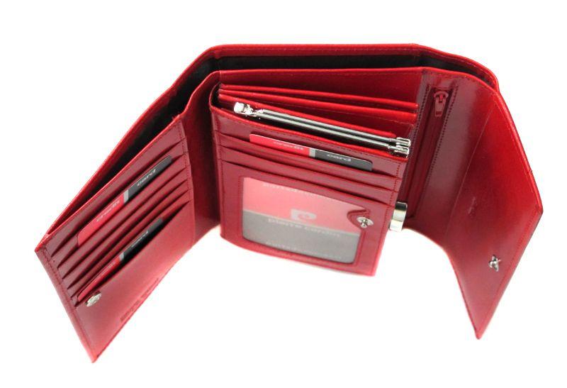 b7dc2cd6d347f Bardzo duży damski portfel Pierre Cardin w kolorze czerwonym • Arena.pl
