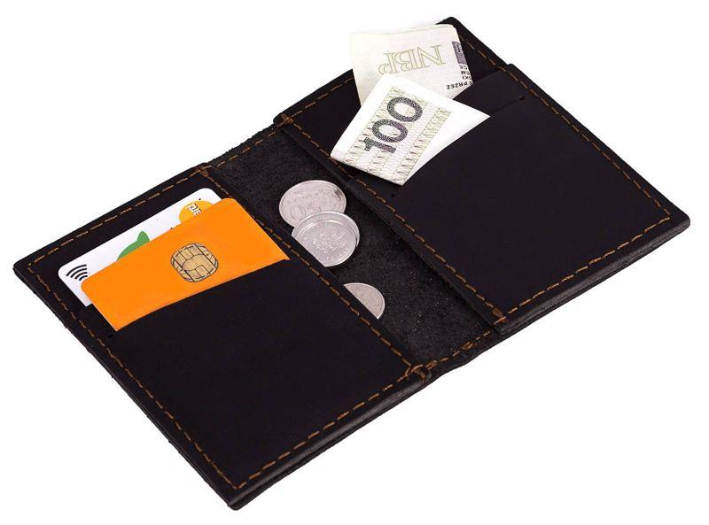 0e9bb392774fc Czarny skórzany portfel slim wallet brodrene sw03 • Arena.pl