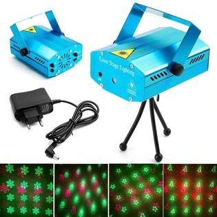 Świąteczny projektor laserowy 3D mini laser stage lighting