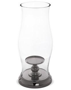 Lampion szklany z Podstawką owal 41x18x18 cm