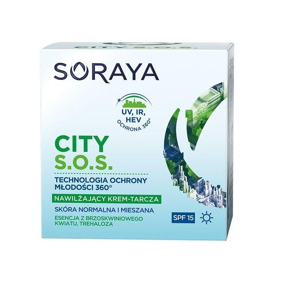 Soraya City S.o.s. Spf15 Nawilżający Krem-Tarcza Na Dzień Do Skóry Normalnej I Mieszanej 50Ml na Arena.pl