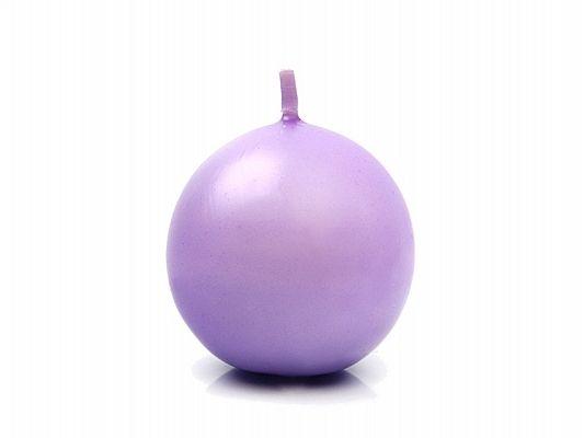 Świeca w kształcie kuli 6cm, w kolorze wrzosu zdjęcie 1