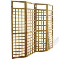 Parawan pokojowy 4-panelowy/trejaż, drewno akacjowe, 160x170 cm