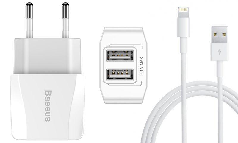 BASEUS 2X USB SZYBKA ŁADOWARKA IPHONE SE 6S 7 8 X