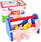 Skrzynka drewniana z narzędziami Dla Dzieci 10 elementów U06