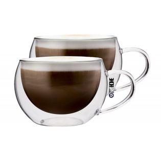 Szklanki Termiczne do Kawy Cappuccino Herbaty 300ml 2 sztuki
